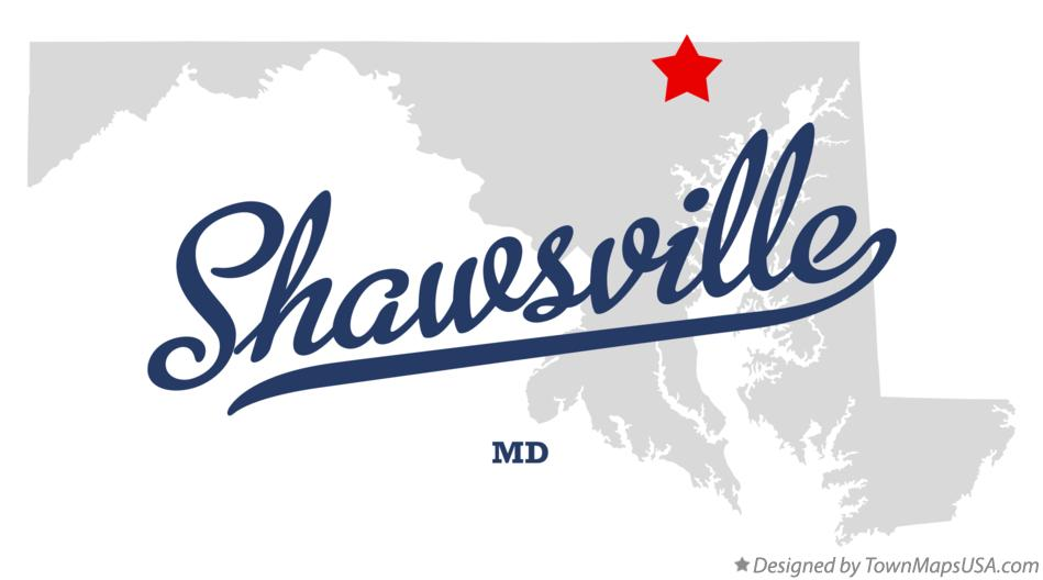 Map of Shawsville Maryland MD