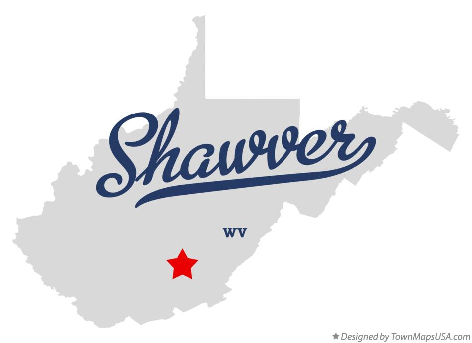 Map of Shawver West Virginia WV