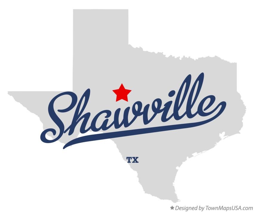 Map of Shawville Texas TX
