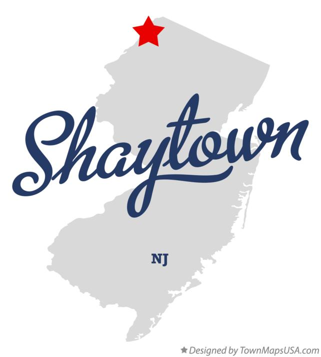 Map of Shaytown New Jersey NJ