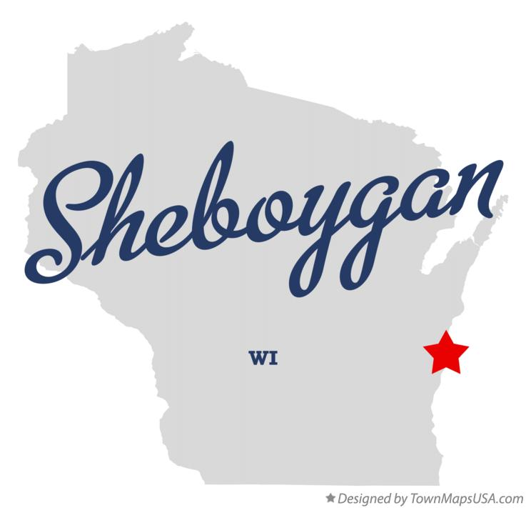 Map of Sheboygan Wisconsin WI