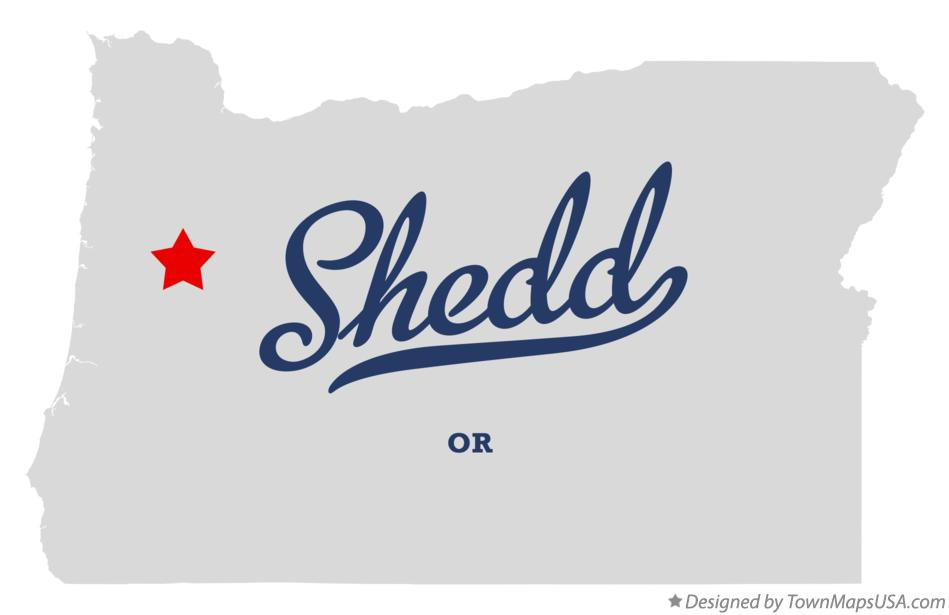 Map of Shedd Oregon OR