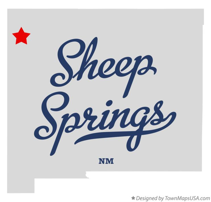 Map of Sheep Springs New Mexico NM