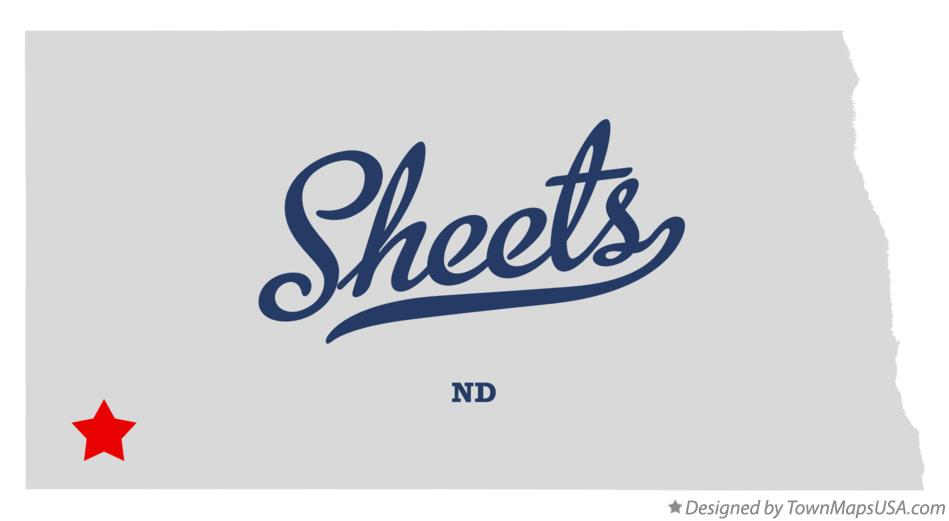 Map of Sheets North Dakota ND