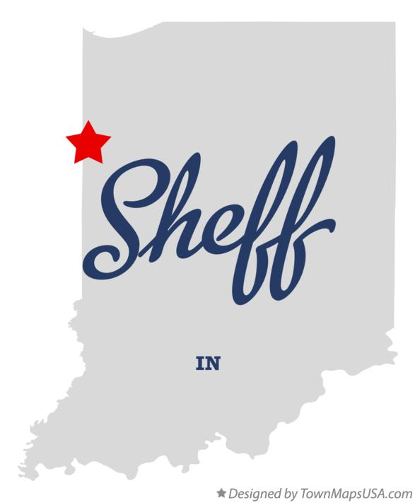 Map of Sheff Indiana IN