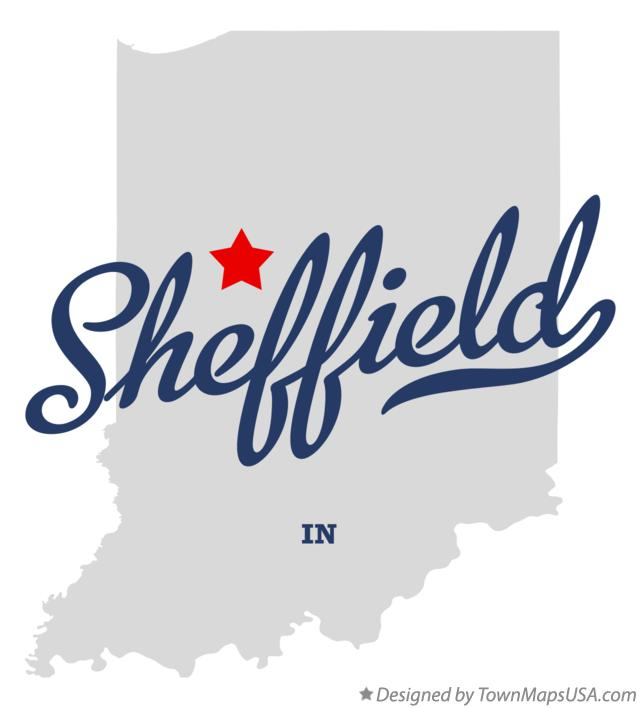 Map of Sheffield Indiana IN