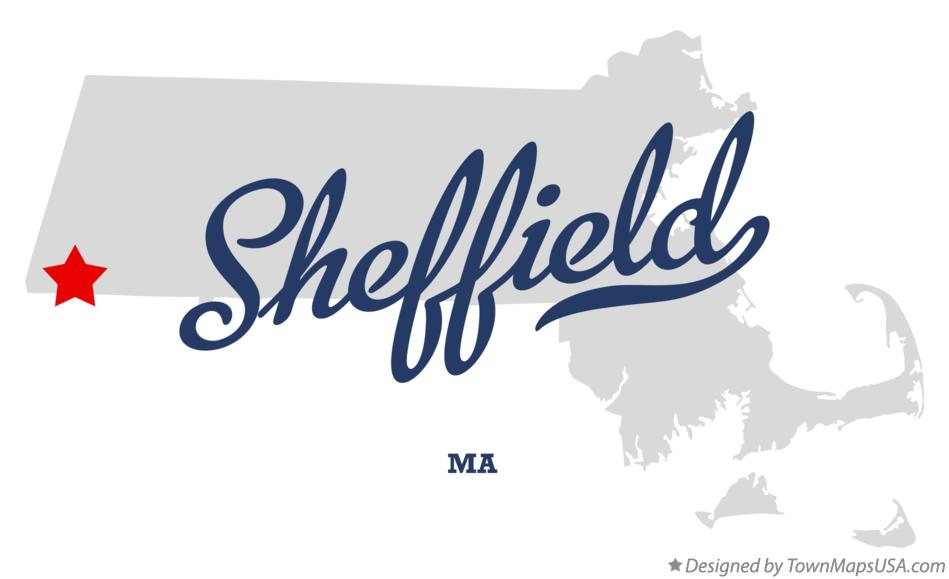 Map of Sheffield Massachusetts MA