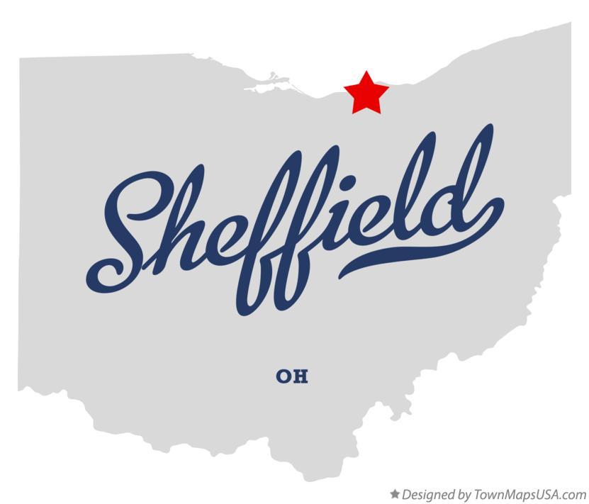Map of Sheffield Ohio OH