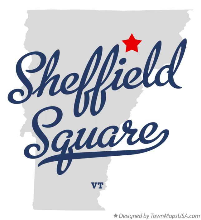 Map of Sheffield Square Vermont VT
