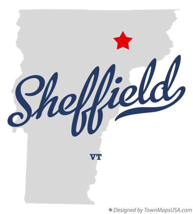 Map of Sheffield Vermont VT