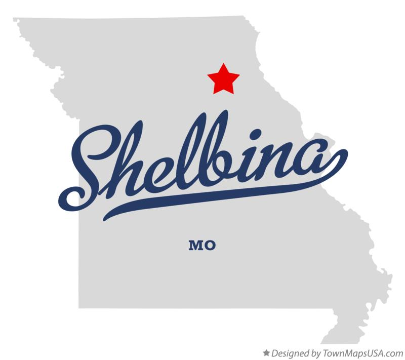 Map of Shelbina Missouri MO