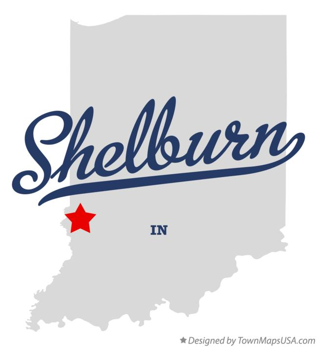Map of Shelburn Indiana IN