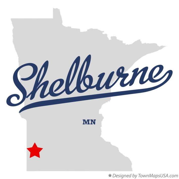 Map of Shelburne Minnesota MN