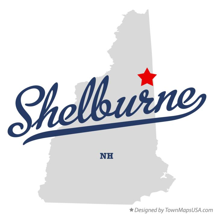 Map of Shelburne New Hampshire NH