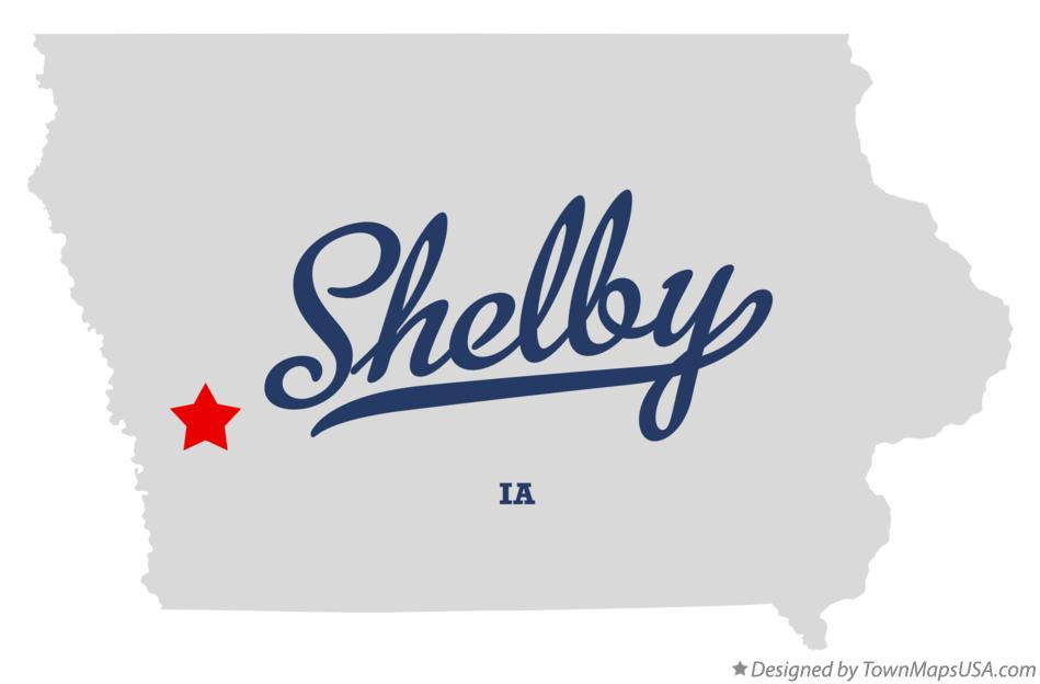 Map of Shelby Iowa IA