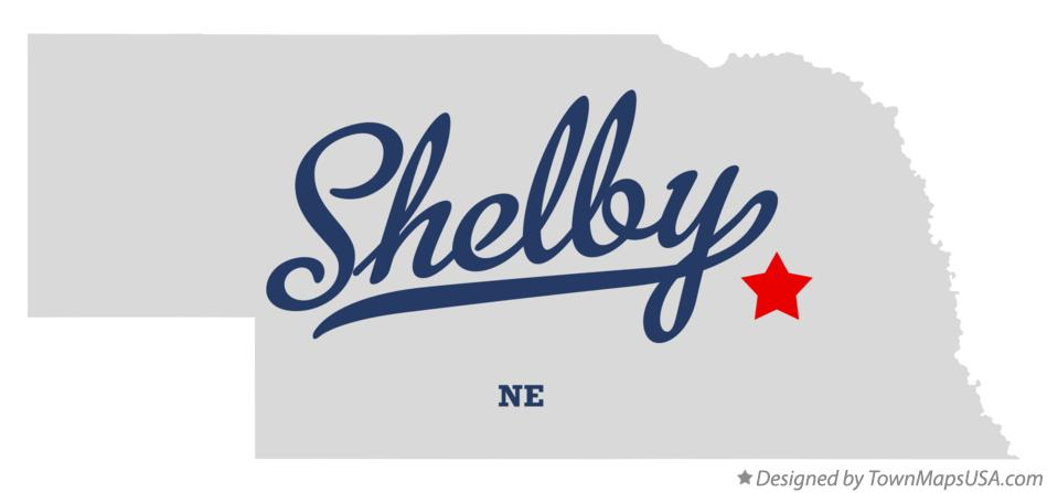 Map of Shelby Nebraska NE