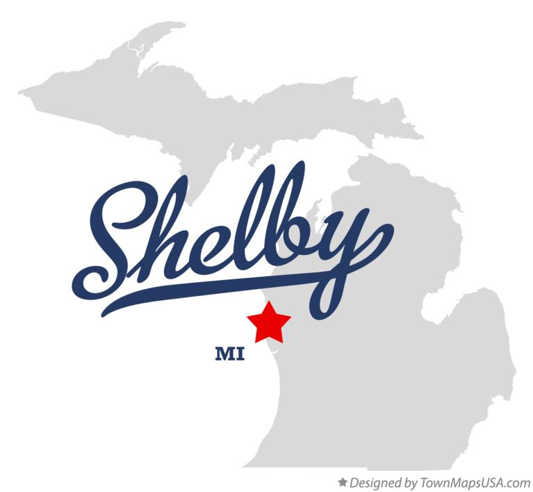 Map of Shelby Michigan MI