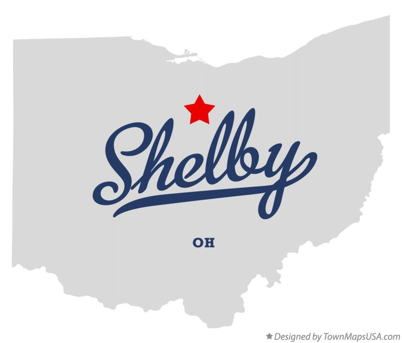Map of Shelby Ohio OH