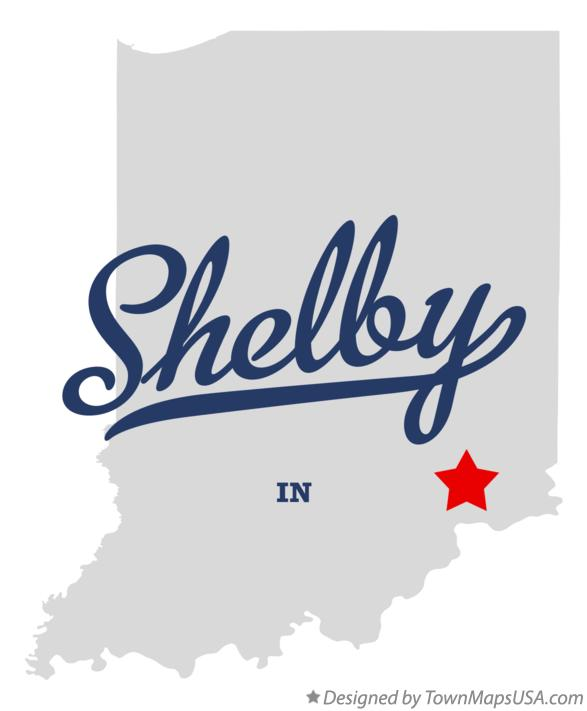 Map of Shelby Indiana IN