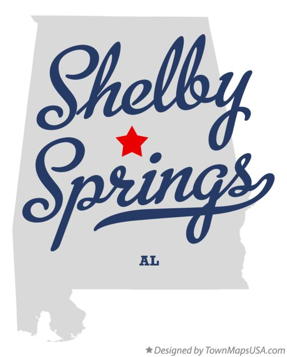 Map of Shelby Springs Alabama AL