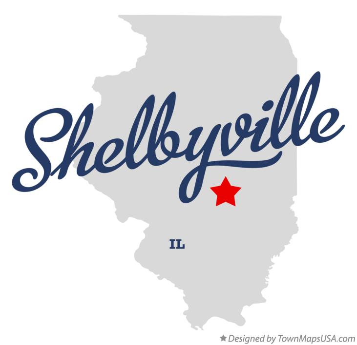 Map of Shelbyville Illinois IL