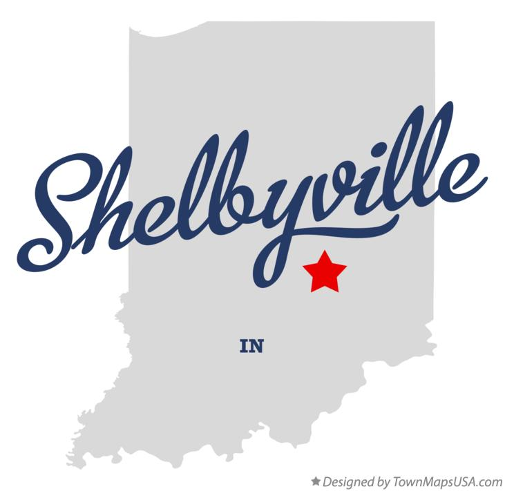 Map of Shelbyville Indiana IN