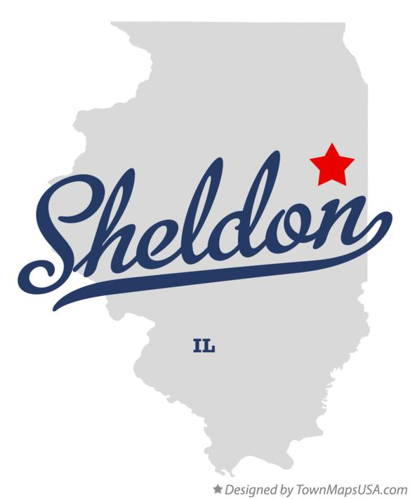 Map of Sheldon Illinois IL