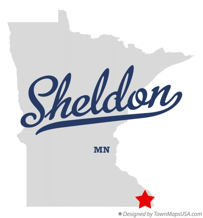 Map of Sheldon Minnesota MN