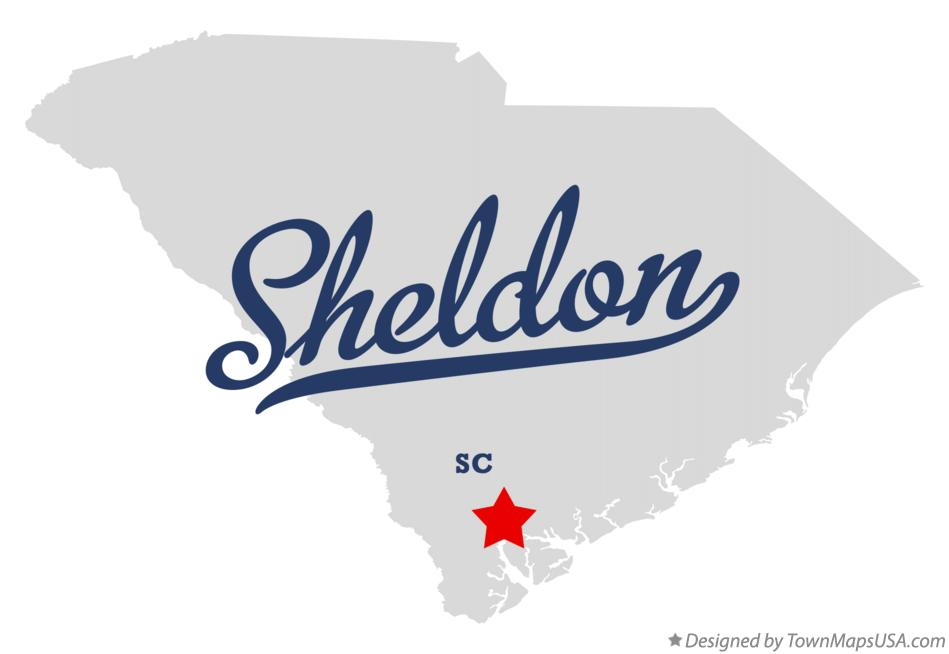 Map of Sheldon South Carolina SC
