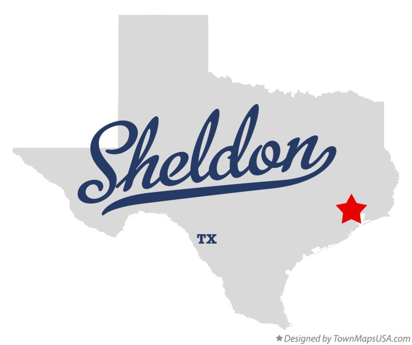 Map of Sheldon Texas TX