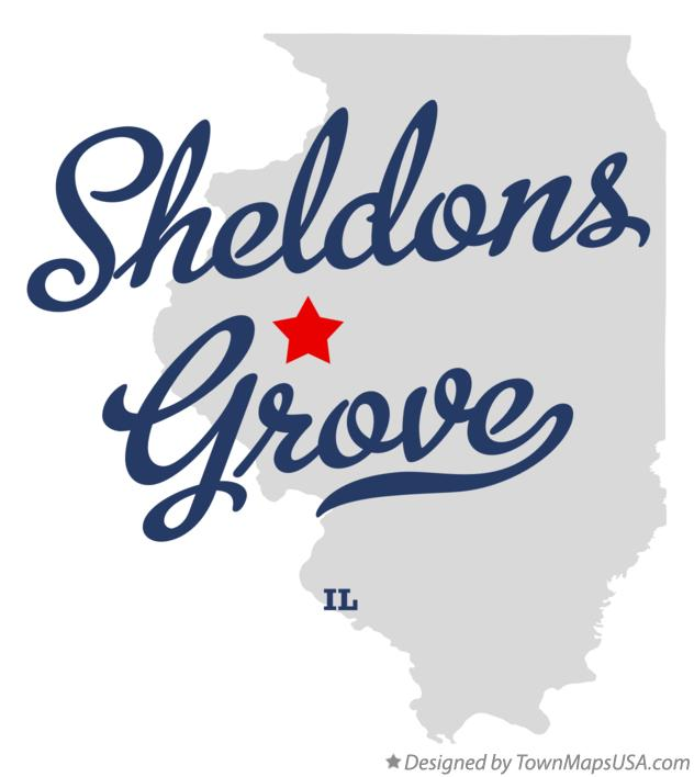Map of Sheldons Grove Illinois IL