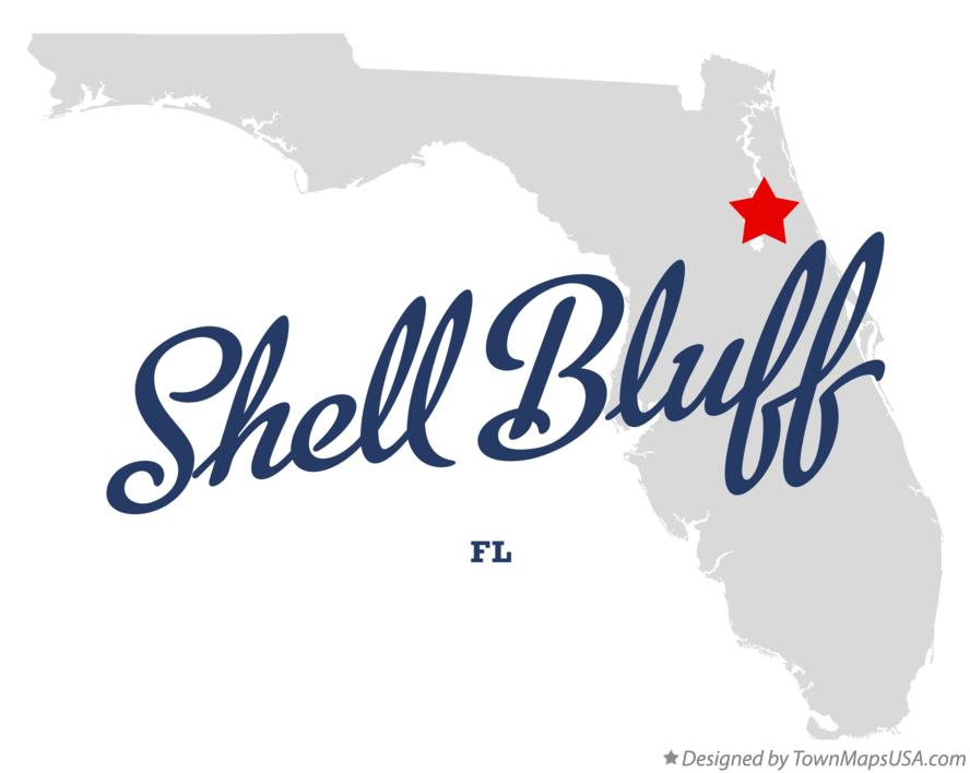 Map of Shell Bluff Florida FL