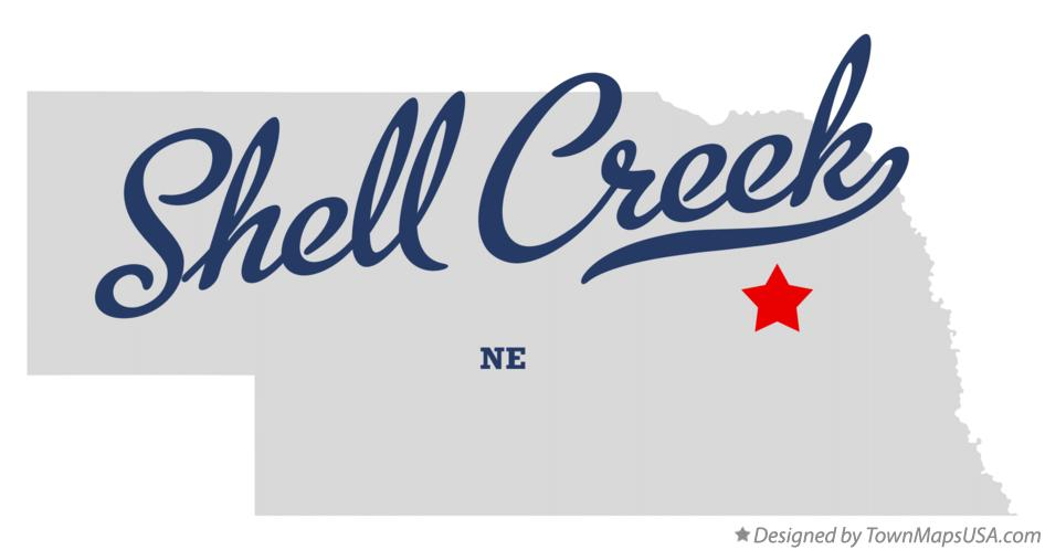 Map of Shell Creek Nebraska NE