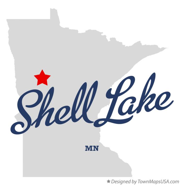 Map of Shell Lake Minnesota MN