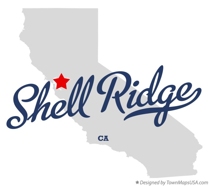 Map of Shell Ridge California CA