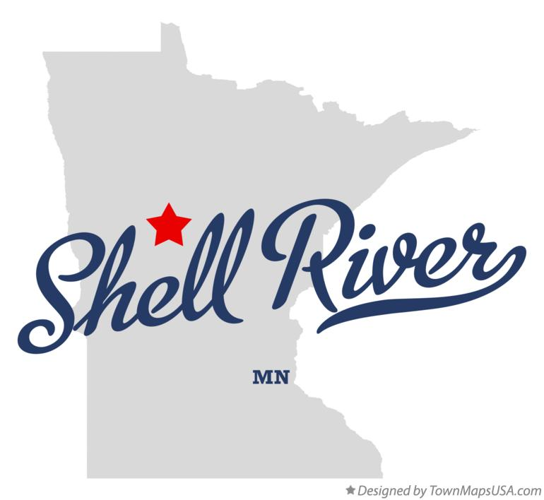 Map of Shell River Minnesota MN