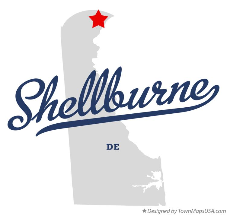 Map of Shellburne Delaware DE