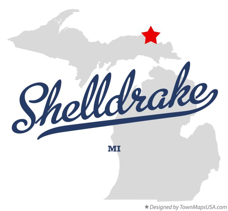 Map of Shelldrake Michigan MI