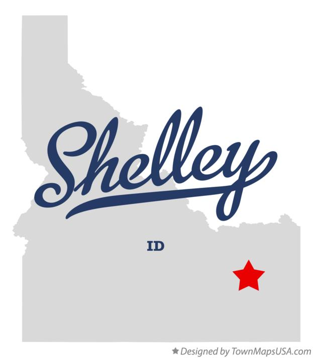 Map of Shelley Idaho ID