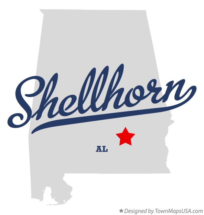 Map of Shellhorn Alabama AL