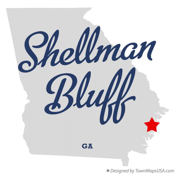 Map of Shellman Bluff Georgia GA