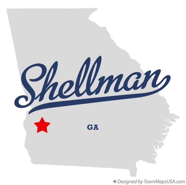 Map of Shellman Georgia GA
