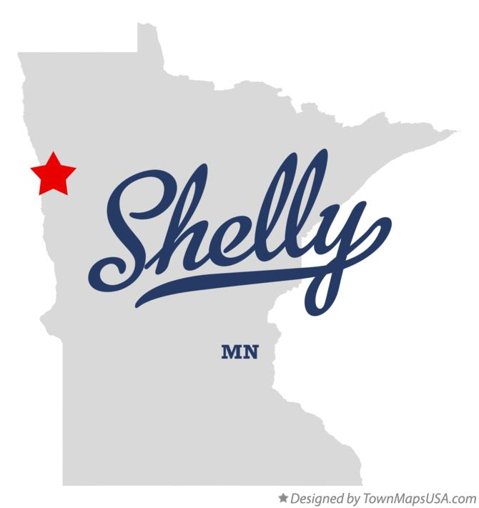 Map of Shelly Minnesota MN