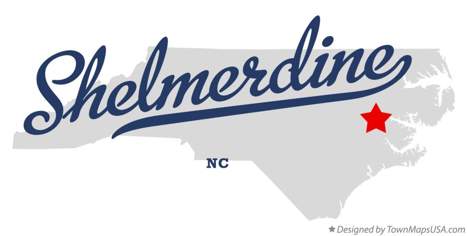 Map of Shelmerdine North Carolina NC