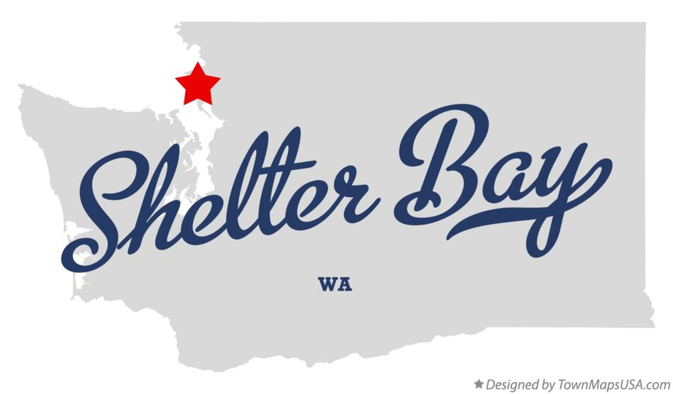 Map of Shelter Bay Washington WA