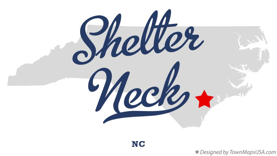 Map of Shelter Neck North Carolina NC