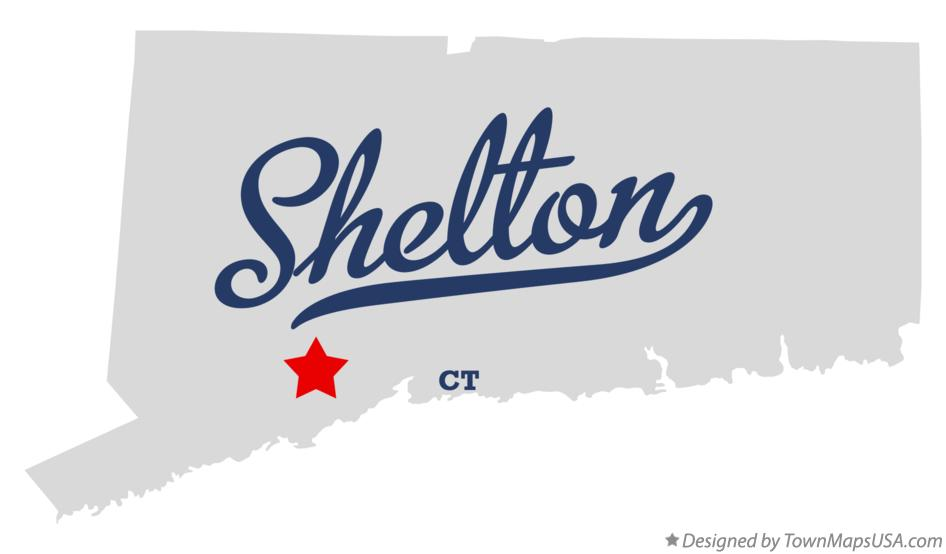 Map of Shelton Connecticut CT
