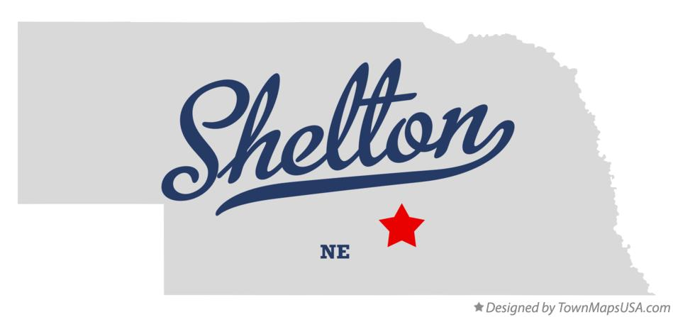 Map of Shelton Nebraska NE