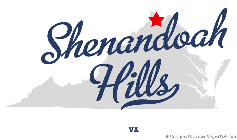 Map of Shenandoah Hills Virginia VA