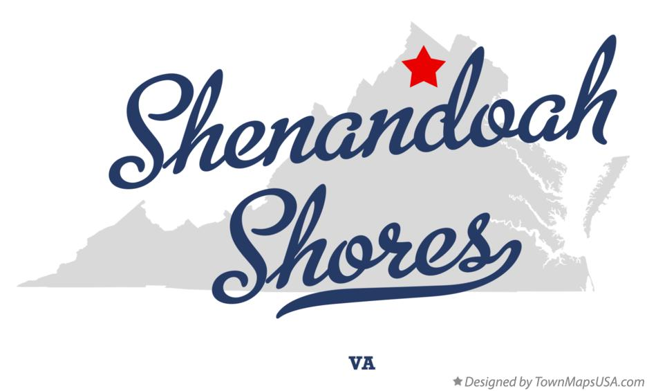 Map of Shenandoah Shores Virginia VA